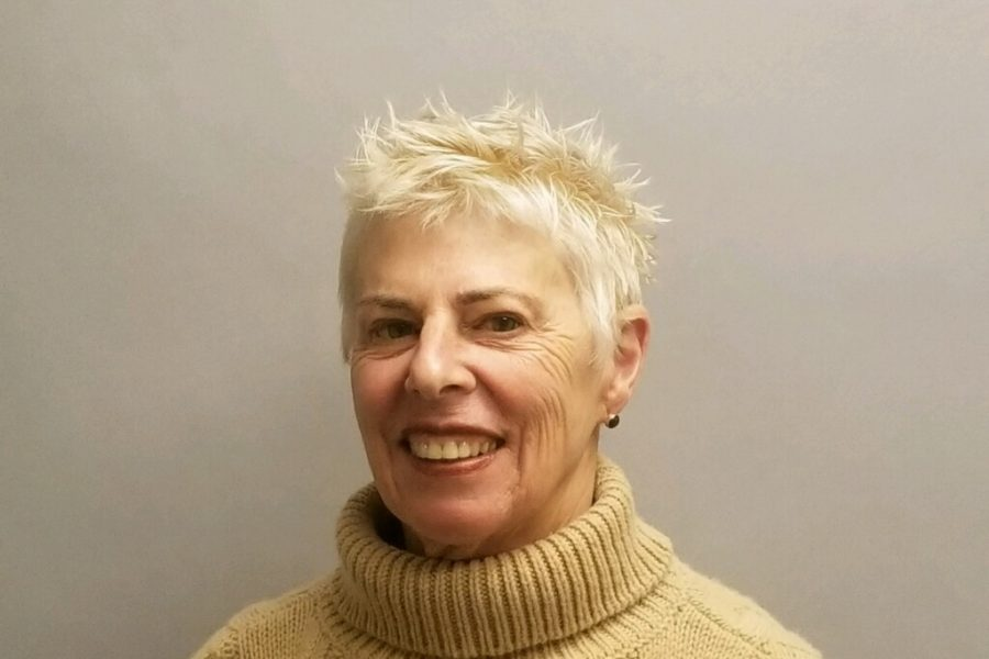 Short spikey blonde woman after style by kathleen marie